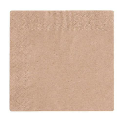 Vegware Compostable Unbleached Cocktail Napkins 240mm (Pack of 4000)